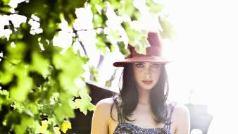 Women hats krysten ritter wallpaper
