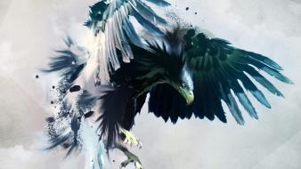 Abstract eagles artwork wallpaper
