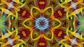 Abstract multicolor fractals psychedelic Wallpaper