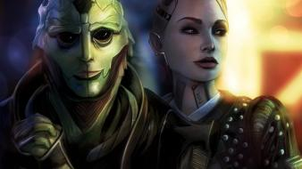 Artwork 3 thane krios drell fan art wallpaper