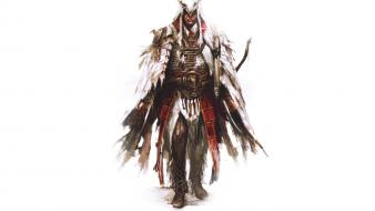 Artwork 3 white background connor kenway pc Wallpaper