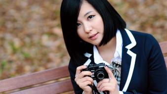 Asians korean ryu ji hye black hair wallpaper