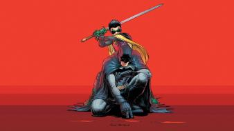 Batman robin dc comics superheroes and damian wayne Wallpaper
