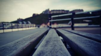 Bench depth of field wallpaper