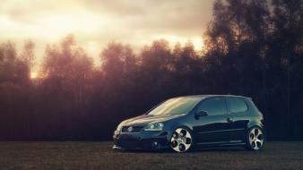 Black volkswagen golf gti wallpaper