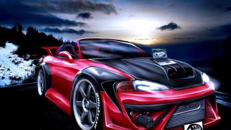 Cars design tuning 3d mitsubishi eclipse wallpaper