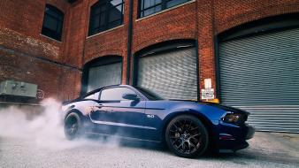Cars ford muscle mustang burnout wallpaper