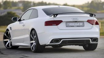 Cars tuning audi a5 white tuned rieger wallpaper