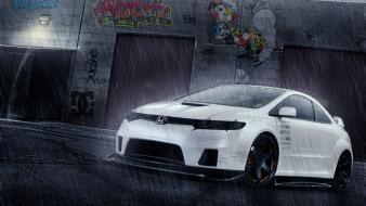 Cars tuning honda civic 3d virtual wallpaper