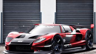 Cars tuning track ford gt 3d wallpaper