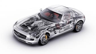 Cars x-ray mercedes-benz sls amg wallpaper