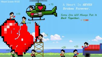 Cartoons love happy games 8-bit wallpaper