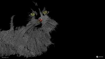 Cats animals artwork simple background smashing magazine black wallpaper
