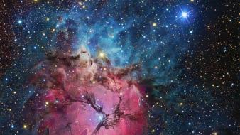 Clouds stars nebulae hubble gaz space wallpaper