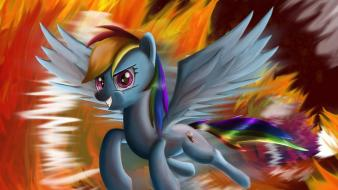 Fire my little pony rainbow dash artist wallpaper
