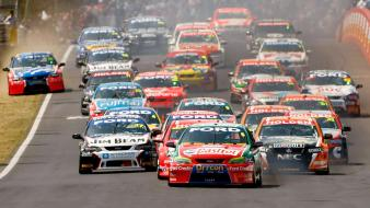 Ford falcon v8 holden commodore supercars australia wallpaper