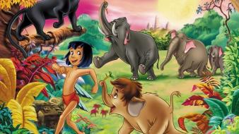 Forests animals drawings the jungle book mowgli wallpaper