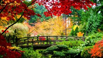 Garden bridges wallpaper