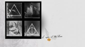 Grayscale and the deathly hallows snitch symbols wallpaper