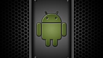 Green android google operating systems wallpaper