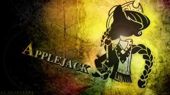 Grunge my little pony applejack wallpaper