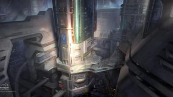 Halo buildings reach concept art artwork bungie wallpaper