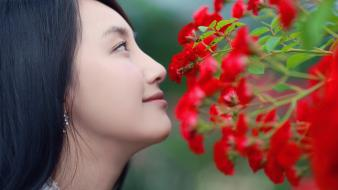 In nature black hair choi ji hyang wallpaper