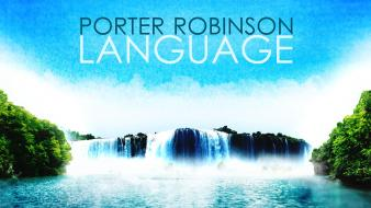 Lakes waterfalls language bushes electronic porter robinson Wallpaper
