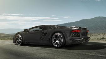 Lamborghini tuning aventador mansory black cars carbonado wallpaper