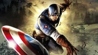 Marvel comics the avengers america: first avenger wallpaper
