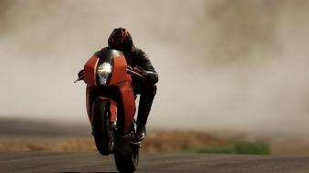 Motorbikes wheelie wallpaper