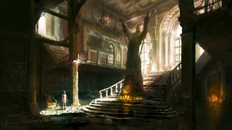 Nathan drake concept art artwork mansion 3 wallpaper
