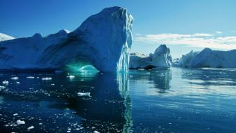 Nature icebergs skyscapes Wallpaper