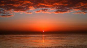 Sunset sun seascapes wallpaper