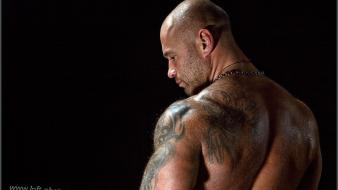 Tattoos men muscles strong bad bald head sweat wallpaper