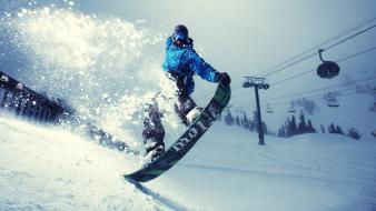 Winter snow sports athletic snowboard wallpaper