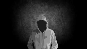 Abstract black dark men lonely hoodies wallpaper