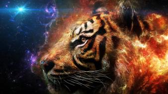 Abstract tigers artwork wallpaper