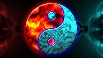 Abstract yin yang artwork wallpaper