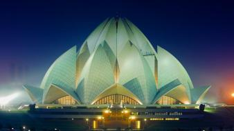 Architecture buildings bing delhi india lotus temple wallpaper