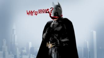 Batman typography the dark knight why so serious? wallpaper
