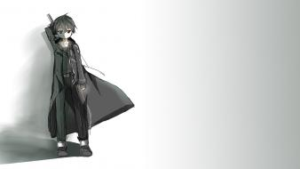 Black sword art online kirigaya kazuto kirito wallpaper