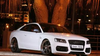 Cars audi tuning white s5 Wallpaper
