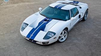 Cars ford gt racing stripes Wallpaper