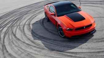 Cars ford mustang asphalt tyres wallpaper