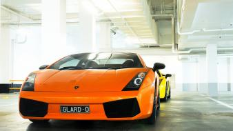 Cars lamborghini gallardo orange wallpaper