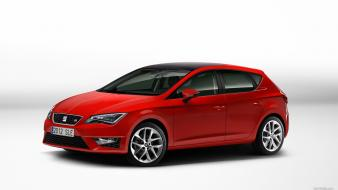 Cars seat leon simple background wallpaper