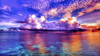 Clouds nature seascapes wallpaper