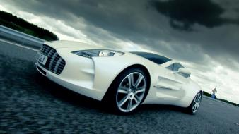 Clouds white cars sharks one-77 aston martin wallpaper
