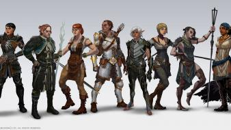 Dragon age characters 2 morrigan anders flemeth aveline wallpaper